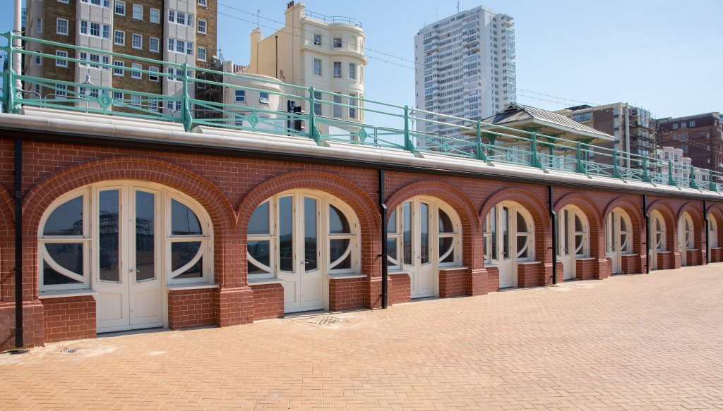 Joinery by Seth Evans Joinery for the West Pier arches in Brighton.